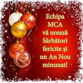 MCA Grup va ureaza Sarbatori fericite si un An Nou plin de realizari si impliniri!