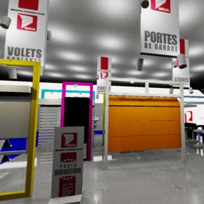 Porte de garage mca actualit s le stand mca au salon for Prix stand salon