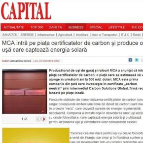 MCA intra pe piata certificatelor de carbon