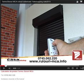 Teleshopping: Va prezentam termostorurile MCA, rulouri exterioare pentru ferestre