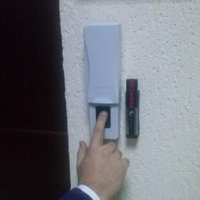 Cititor de amprente in loc de cheie pentru acces in garaj