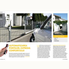 Revista Casa Mea: Automatizarea portilor, expresia confortului