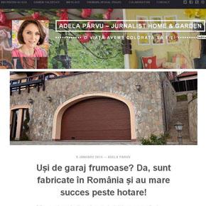 Usi de garaj frumoase? Da, sunt fabricate in Romania si au mare succes peste hotare!
