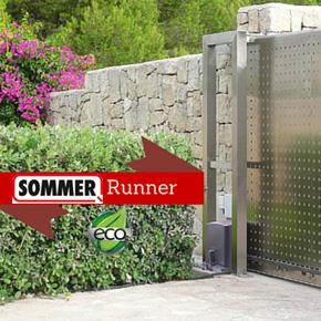 MCA lancia l'automazione per i cancelli lineari Starter+ e Runner, di Sommer