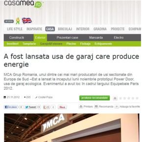 Casamea.ro: A fost lansata usa de garaj care produce energie