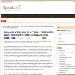 Sporulcasei.ro – MCA se extinde la export