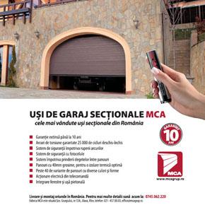 """Usi de garaj MCA Grup, pe coperta 4 a revistei """"Casa mea"""", editia februarie 2014"""
