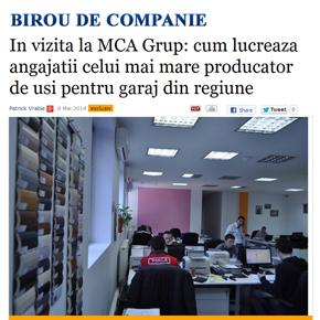 Birou de companie, Wall-street.ro. In vizita la MCA Grup: cum lucreaza angajatii producatorului de
