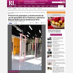 Aparitii in presa: Showroomul MCA Timisoara, selectat la Bienala de Arhitectura!